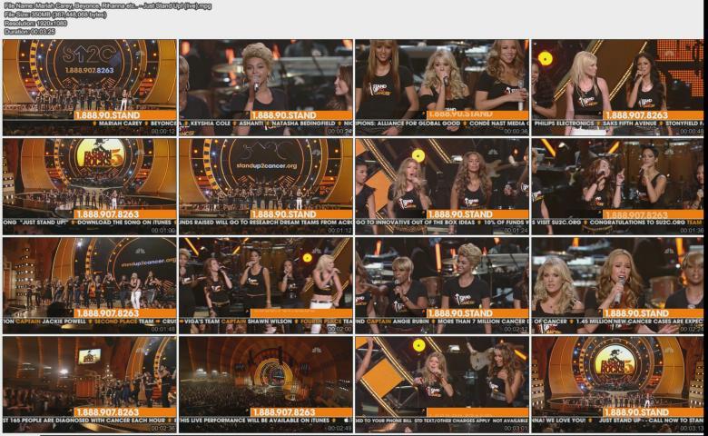 Mariah Carey, Beyonce, Rihanna etc.. - Just Stand Up! (live)