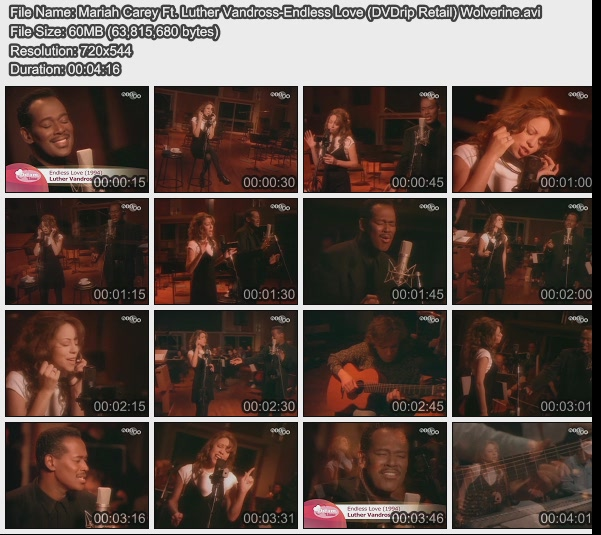 Mariah Carey Ft. Luther Vandross-Endless Love (DVDrip Retail) Wolverine