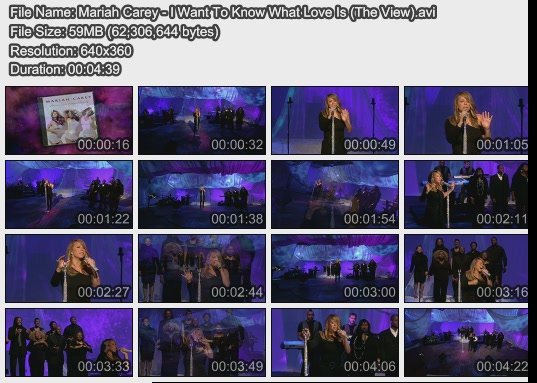 Mariah Carey - I Want To Know What Love Is (The View)
