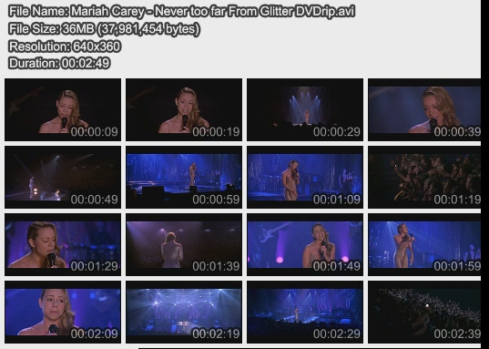 Mariah Carey - Never too far From Glitter DVDrip