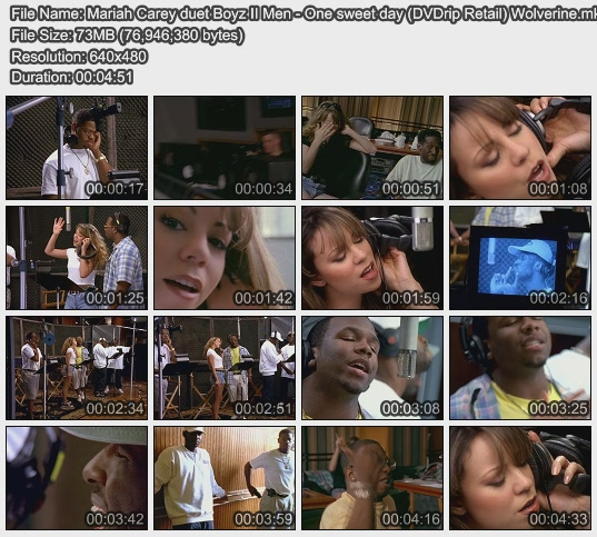 Mariah Carey duet Boyz II Men - One sweet day (DVDrip Retail) Wolverine