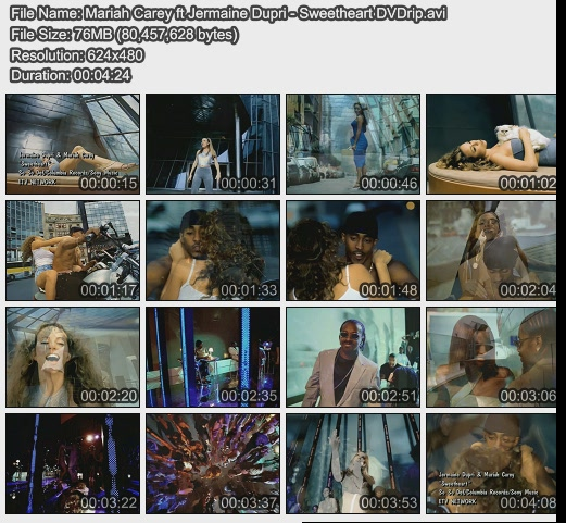 Mariah Carey ft Jermaine Dupri - Sweetheart DVDrip