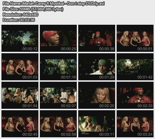 Mariah Carey ft Mystikal - Don t stop DVDrip